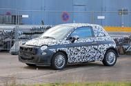 Fiat 500e new spies front side